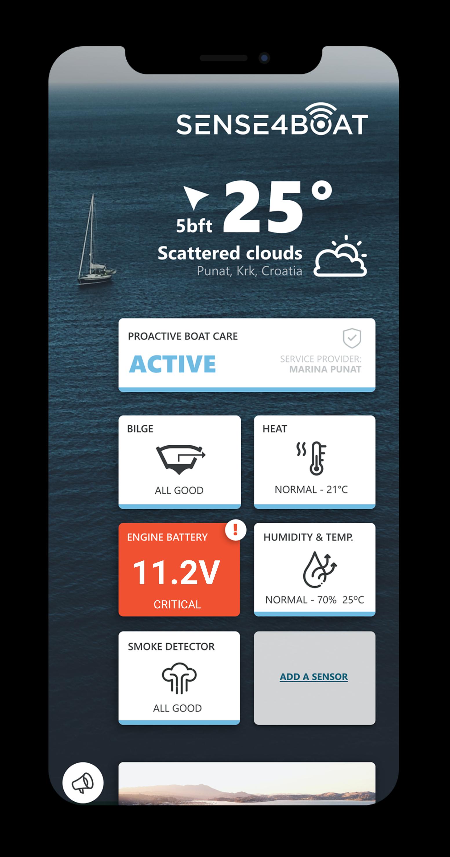 sense4boat dashboard app