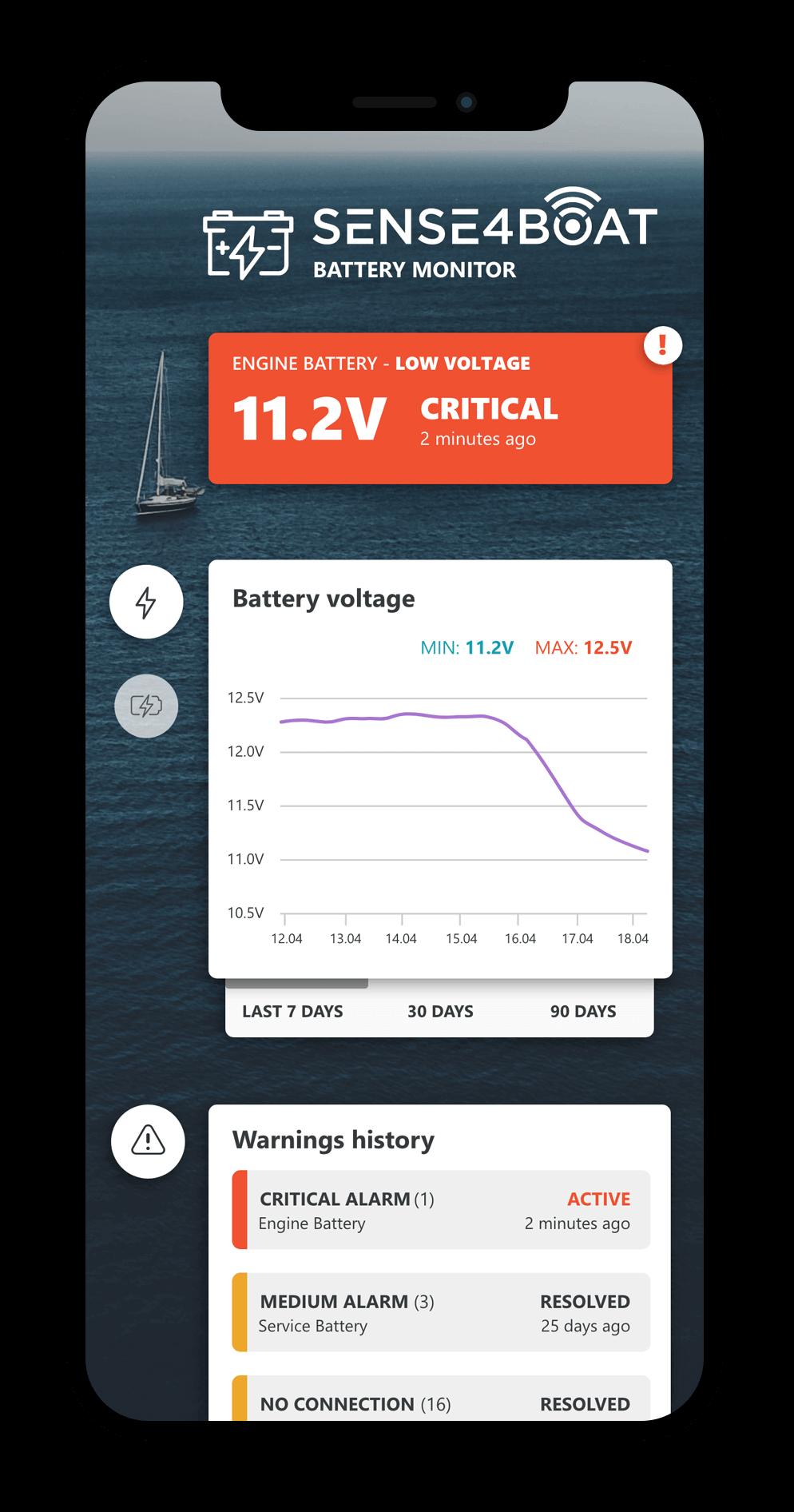 sense4boat charging app